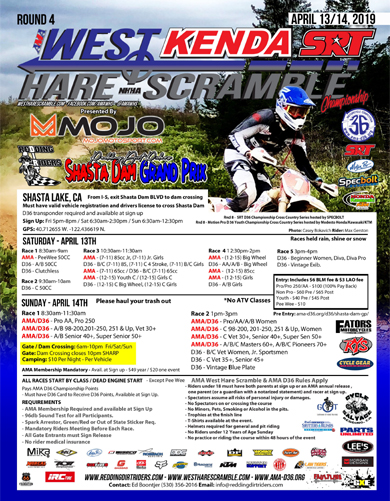 2019 Shasta Dam Grand Prix Flyer